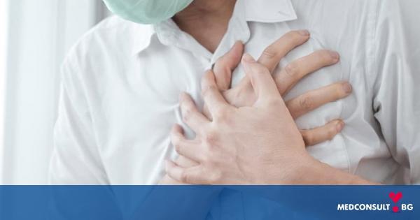 Болката в гърдите е характерна за сърдечния удар